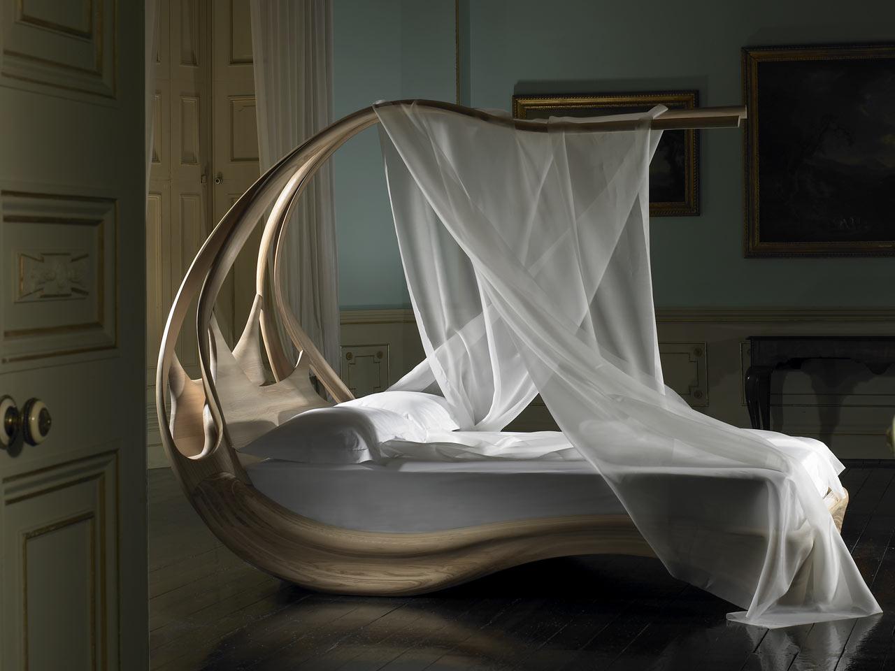 Enignum Canopy Bed, ola de seducción Camas com Dosel enignum canopy bed Decorar una casa3