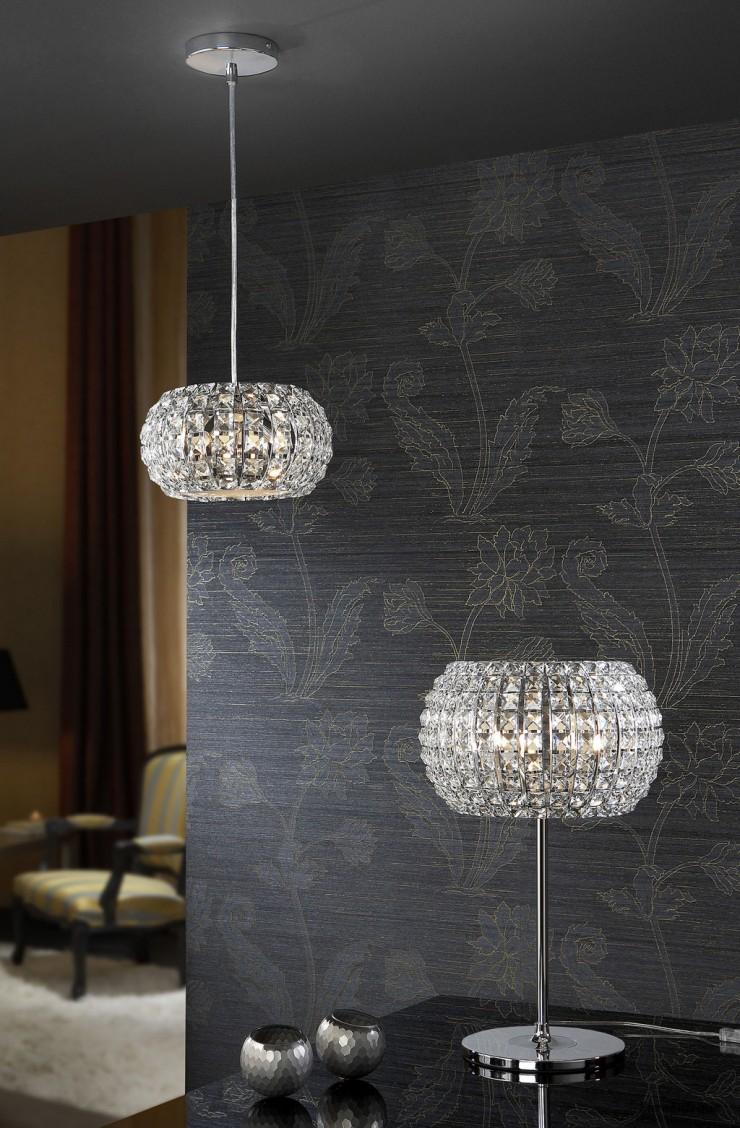 """""""Diamond es una de las piezas de decoración exclusiva de la marca valenciana Shulller.""""  Diamond, cristal en suspensión f1 e1345716348525"""