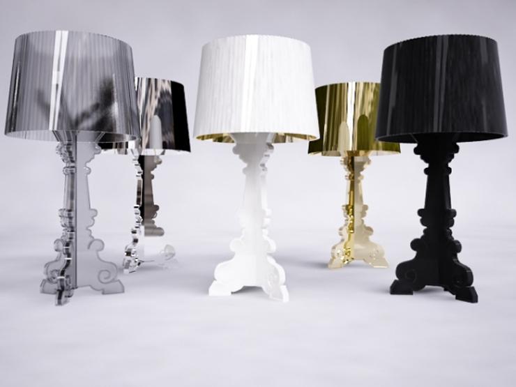 """""""Bourgie, una lámpara de policarbonato de estilo inconfundible y un éxito de ventas verdadero y propio de Kartell, conjuga la tradición clásica barroca."""" Bourgie, lámpara de estilo barroco Foto 0"""