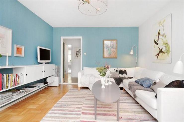 Estocolmo apartamento de poca vintage for Casas pintadas interior