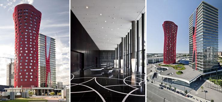 """""""El Hotel Santos Porta Fira en Barcelona fue un proyecto del arquitecto japonés Toyo Ito, en colaboración del prestigioso arquitecto español Fermín Vázquez.""""  Hotel Porta Fira, la joya roja de Toyo Ito Foto 4"""