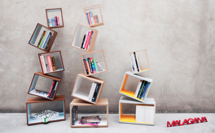 """""""La Biblioteca Equilibrium es una pieza escultórica que demuestra que una biblioteca puede tener dinamismo, lo mismo que encontramos en los libros, y en las historias."""" Biblioteca Equilibrium Equlibriumunslide"""