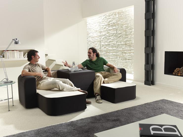 """Este sofá bautizado como Café & Leche, no es más que otra magnífica idea para minis apartamentos.""  Sofá convertible ""Café y Leche"" Foto 27"