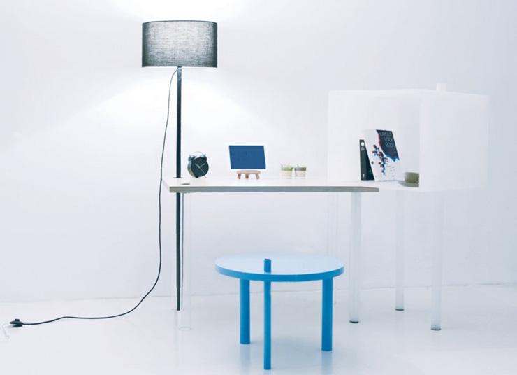 """""""La serie A Intersection B es una obra del diseñador coreano Kim Myung Hyun. Y es una colección de muebles que se pueden encajar de distintas formas, para ser utilizado de manera que se adapte a cada una de las situaciones.""""  A Intersection B, muebles para espacios pequeños ab 2"""