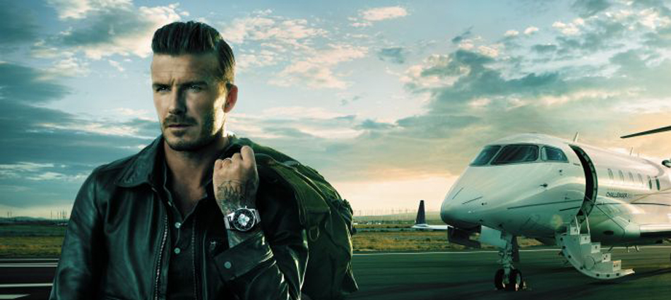 David Beckham viaja con Breitling  Untitled 127