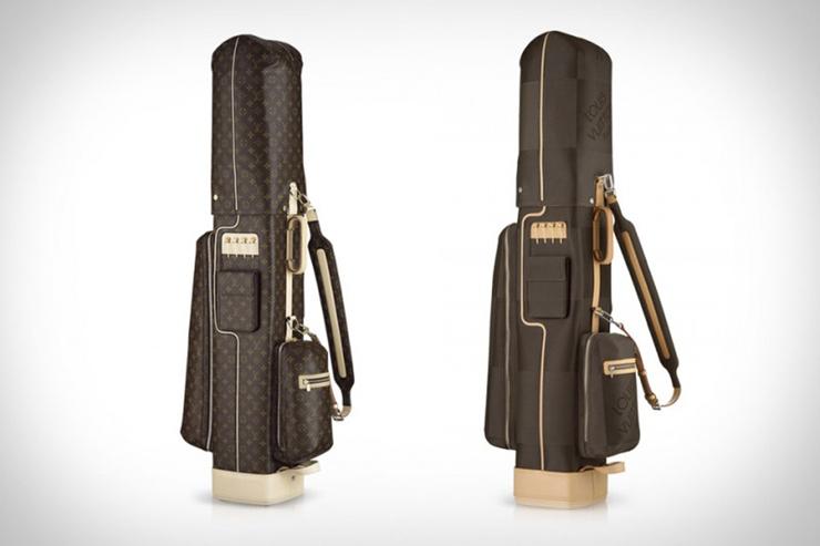 """Louis Vuitton redimensiona la icónica bolsa de golf con su inconfundible sello.""  Bolsa de Golf de Louis Vuitton louis vuitton golf bags xl 800x533"