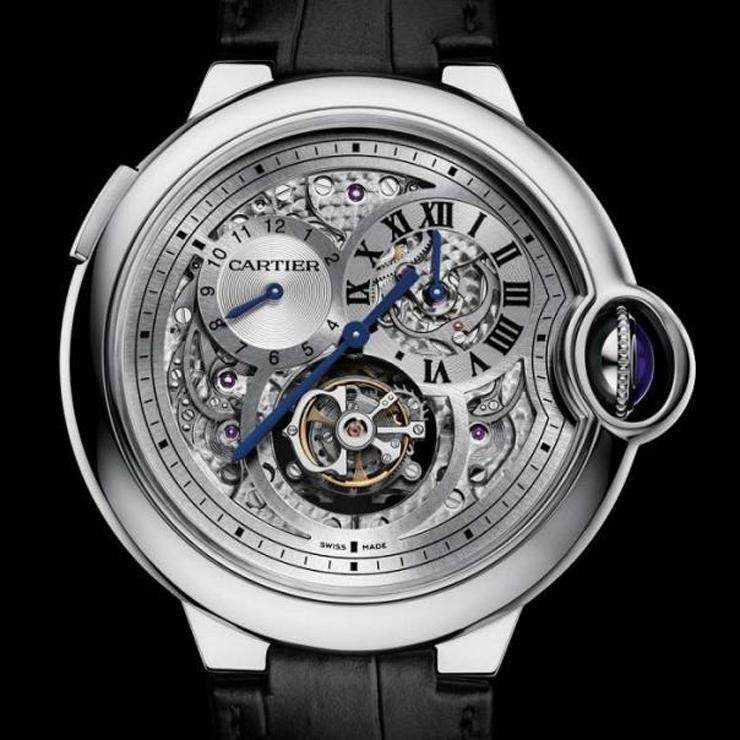 """""""Combinando el tradicionalismo con la tecnología contemporánea de primera clase, la serie Ballon Bleu de Cartier, está obligada a nunca pasar de moda.""""  Reloj Ballon Bleu de Cartier reloj cartier ballon bleu tourbillon 2"""