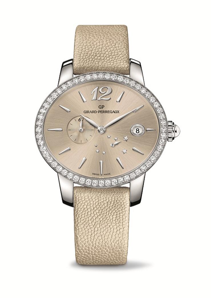 """""""La afamada relojería suiza Girard-Perregaux nos sorprende una vez más con la remozada versión de su clásico reloj Cat's Eye. Este nuevo modelo le agrega brillo y estilo a una pieza de por sí elegante y refinada haciendo del reloj una de las alternativas más atractivas de la temporada.""""  Girard-Perregaux presenta Cat's Eye T A4 80486D11A361 IK8A"""