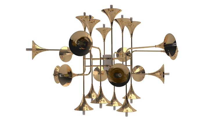 """""""¿No os parece espectacular? Me he enamorado directamente de esta maravillosa lámpara de techo, un diseño de auténtico lujo.""""  Botti, instrumentos de viento botti unique ceiling lamp zoom"""