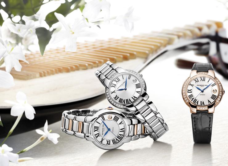 """""""Jasmine, colección de relojes femeninos que marcan el esplendor de una temporada cálida y floral.""""  Jasmine de Raymond Weil rw jasmine lifestyle rd"""