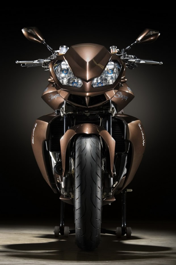 """""""Vilner es una empresa búlgara dediacada a rediseñar el interior de vehículos de lujo y ha ganado una merecida fama por ello, sin embargo la firma ha ampliado su oferta y desde hace unos meses también se encarga de rediseñar motos.""""   La nueva Stingray vilner y aprilia presentan la nueva stingray 2"""