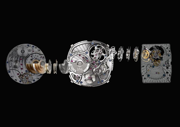 """""""El nuevo reloj Piaget Emperador Coussin Tourbillon Automático Extraplano se inscribe en el código genético de la firma y marca un nuevo récord.""""  Emperador Coussin Tourbillon 1208P 1270P 600P z"""