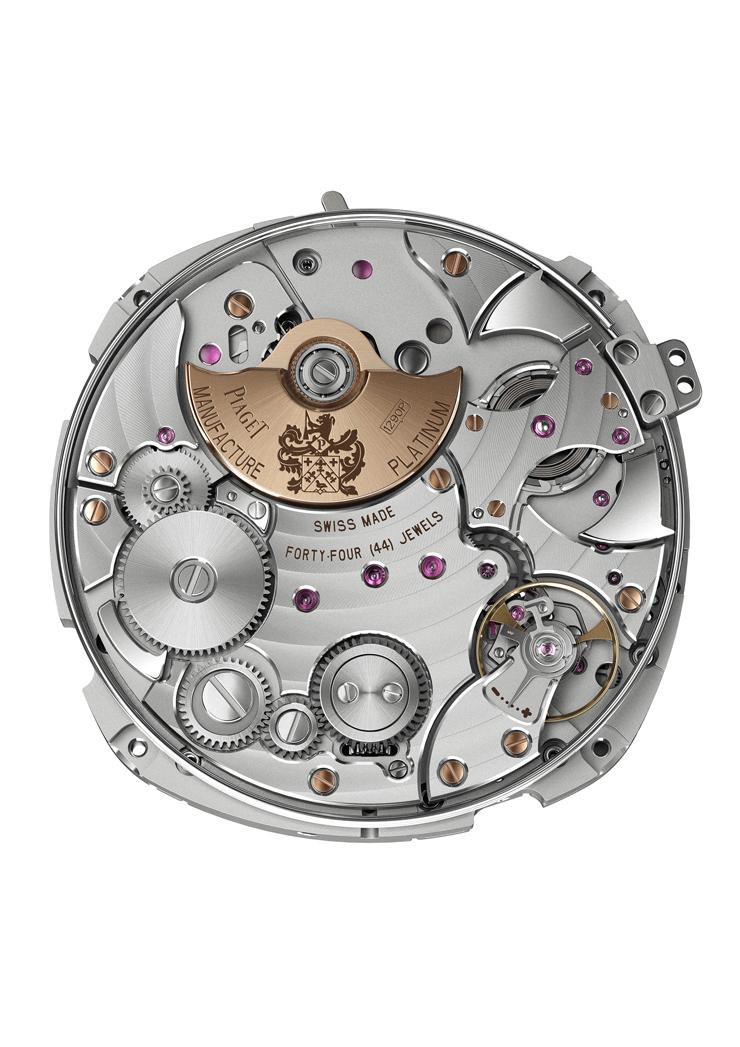 """""""El nuevo reloj Piaget Emperador Coussin Tourbillon Automático Extraplano se inscribe en el código genético de la firma y marca un nuevo récord.""""  Emperador Coussin Tourbillon RM Picture 3"""