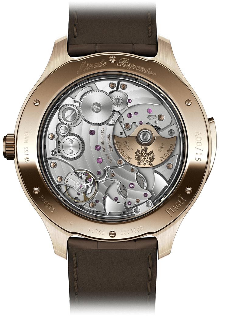 """""""El nuevo reloj Piaget Emperador Coussin Tourbillon Automático Extraplano se inscribe en el código genético de la firma y marca un nuevo récord.""""  Emperador Coussin Tourbillon RM Picture 5"""