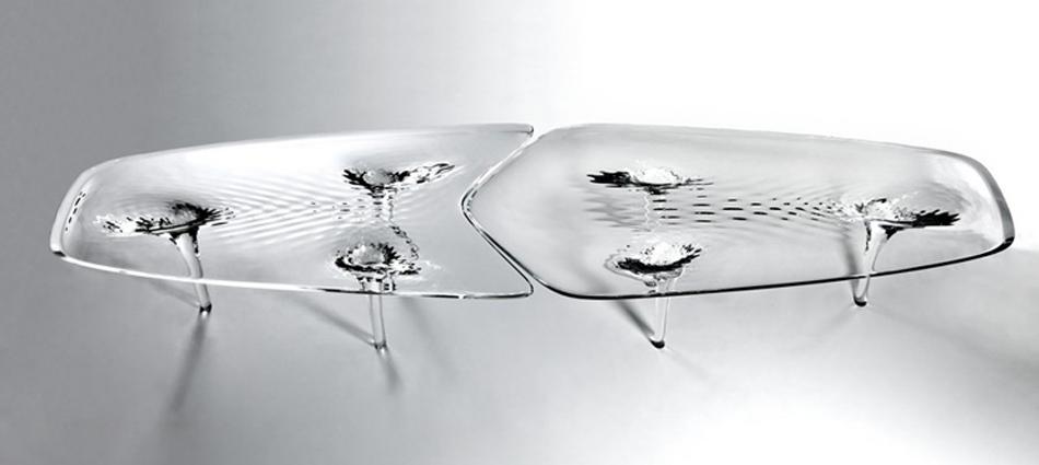 """""""Presentación de Liquid Glacial Table de Zaha Hadid"""""""