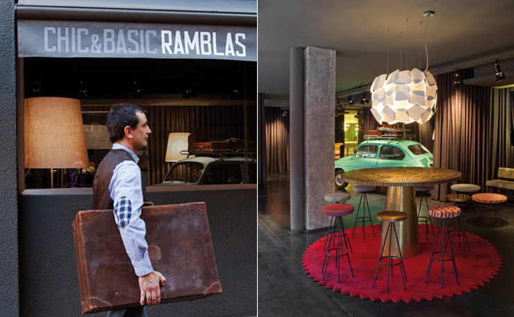 """""""El chic&basic Ramblas es un hotel ubicado en el centro de Barcelona, a media cuadra de La Rambla.""""  Chic&Basic Ramblas Vj chic basic ramblas 8"""
