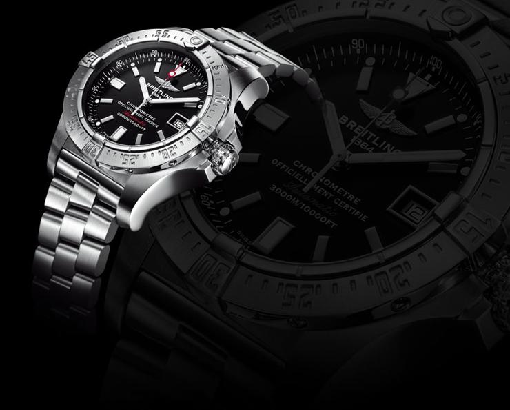 """""""El nuevo reloj presentado por Breitling; Sumergible hasta una profundidad de 3.000 metros"""" Breitling Avenger Seawolf avenger seawolf modelbig modelbig"""