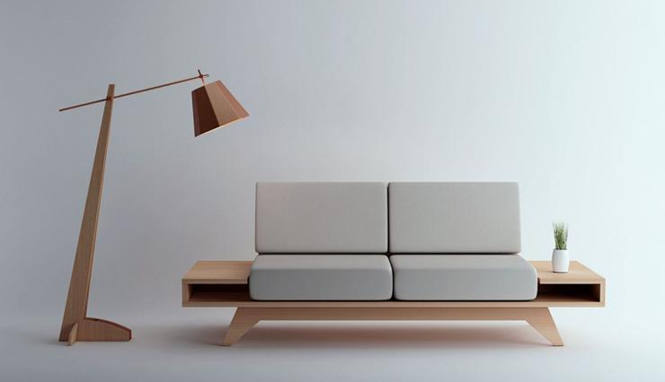 """""""El diseño de este sofá, creado por el diseñador chileno Pablo Llanquin, trata de buscar un estilo simple e ingenuo.""""  Sofá Float de Pablo Llanquin 1"""