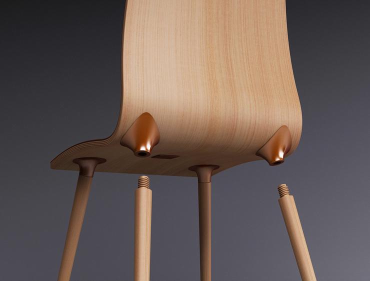 """""""La silla S-Copper es un concepto de silla de alta gama pensado para personas que valoran la nobleza de los materiales."""""""
