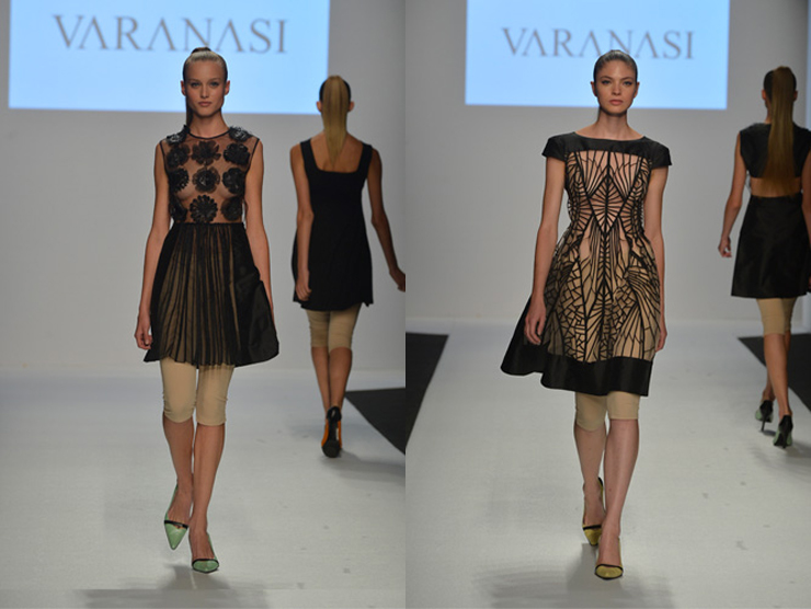 """""""Como una muestra de arte, Varanasi presenta sus diseños.""""  Vernissage de moda 41"""