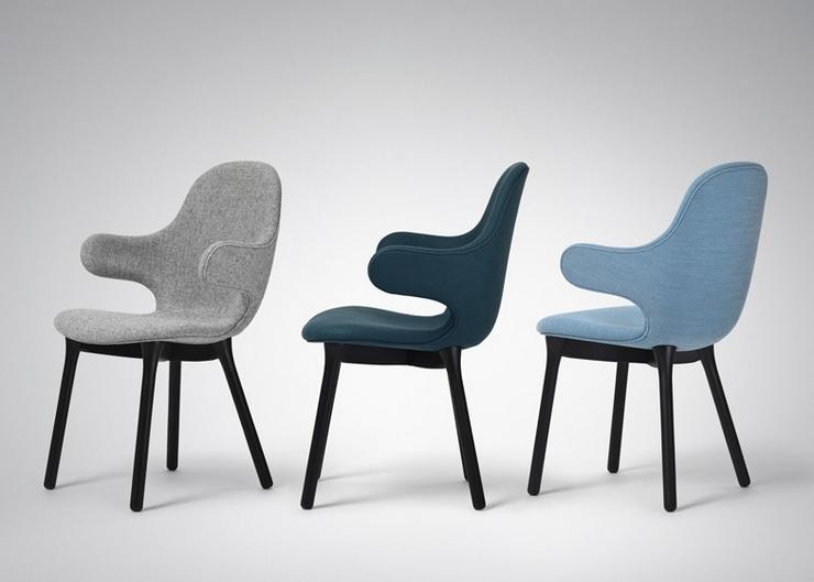 """""""El diseñador español Jaime Hayón ha creado para la marca danesa &tradition una silla con brazos que se extienden desde el alto respaldo como una invitación a sentarse""""  La Silla Catch de Jaime Hayón Silla Catch"""