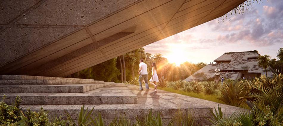 """""""El nuevo museo del sur de México está siendo proyectado por FR-EE, la empresa de Fernando Romero. El museo está localizado en la Riviera Maya y reinterpreta la calidad espacial de las ruinas de esta región"""""""