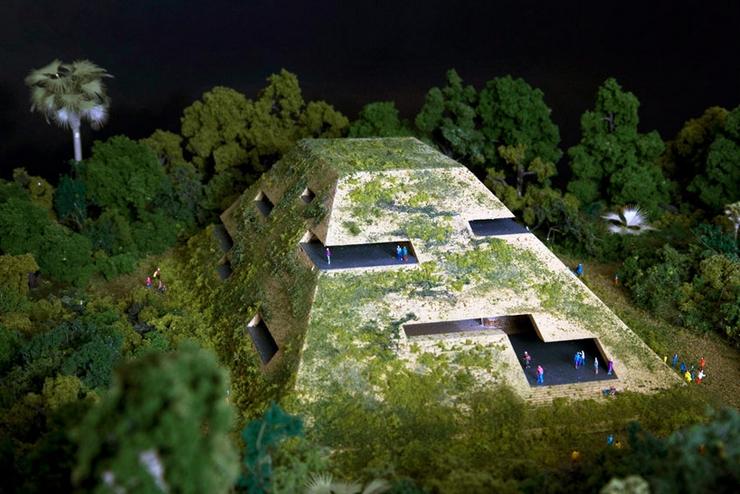 """""""El nuevo museo del sur de México está siendo proyectado por FR-EE, la empresa de Fernando Romero. El museo está localizado en la Riviera Maya y reinterpreta la calidad espacial de las ruinas de esta región"""" El Museo en la Riviera Maya museummexico 03"""