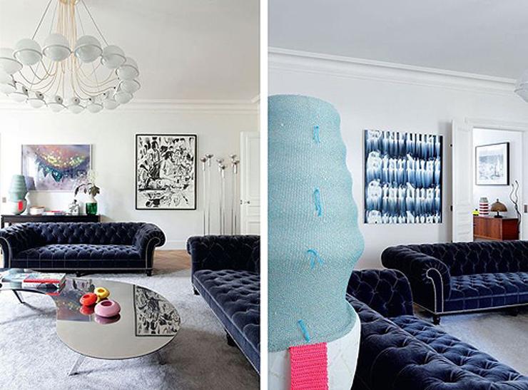 """""""Hay apartamentos con una decoración tan cuidada y especial que nada más verlos, sin saber muy bien exactamente por qué, hacen suspirar, inspiran y se convierten en esa casa con la que siempre hemos soñado.""""  Apartamento femenino en París 110"""