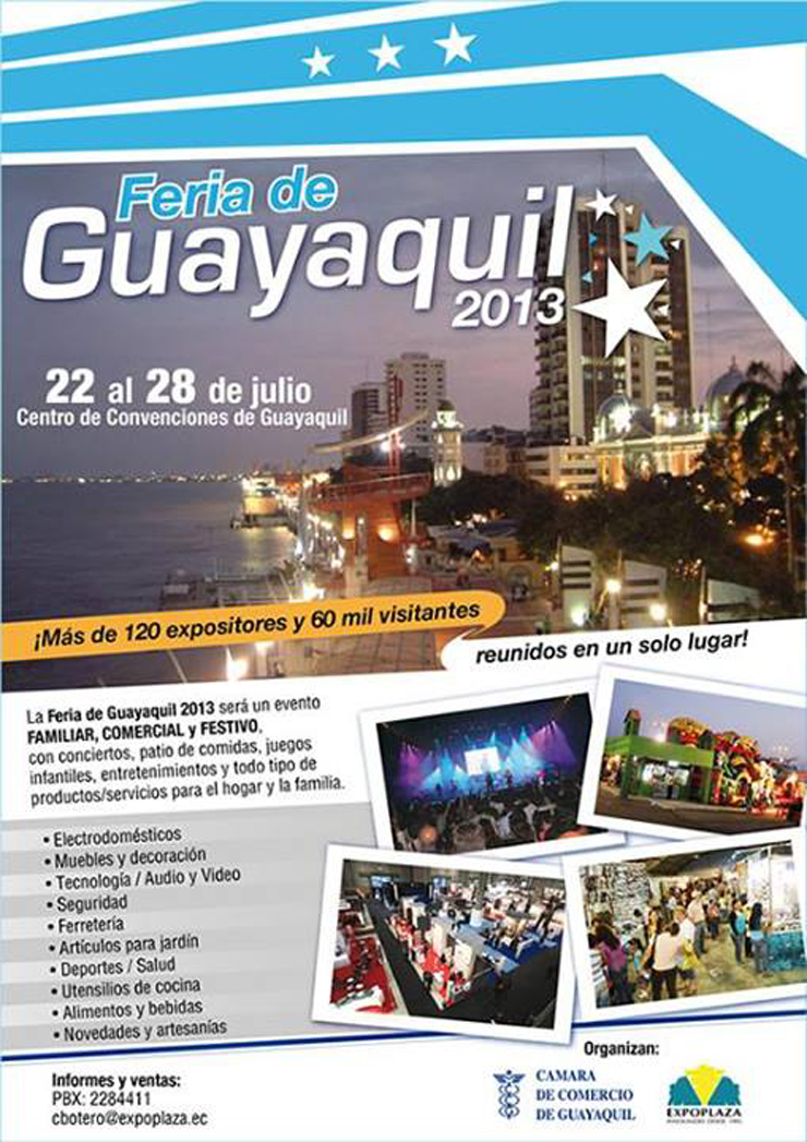 Por primera vez en Guayaquil se llevará a cabo la feria Hogar 2013, una exposición comercial con ambiente familiar donde todos, tanto expositores como visitantes, podrán disfrutar de 5 días de entretenimiento y gran demanda de compra y venta.  Feria Hogar en Guayaquil, Ecuador 2013 114