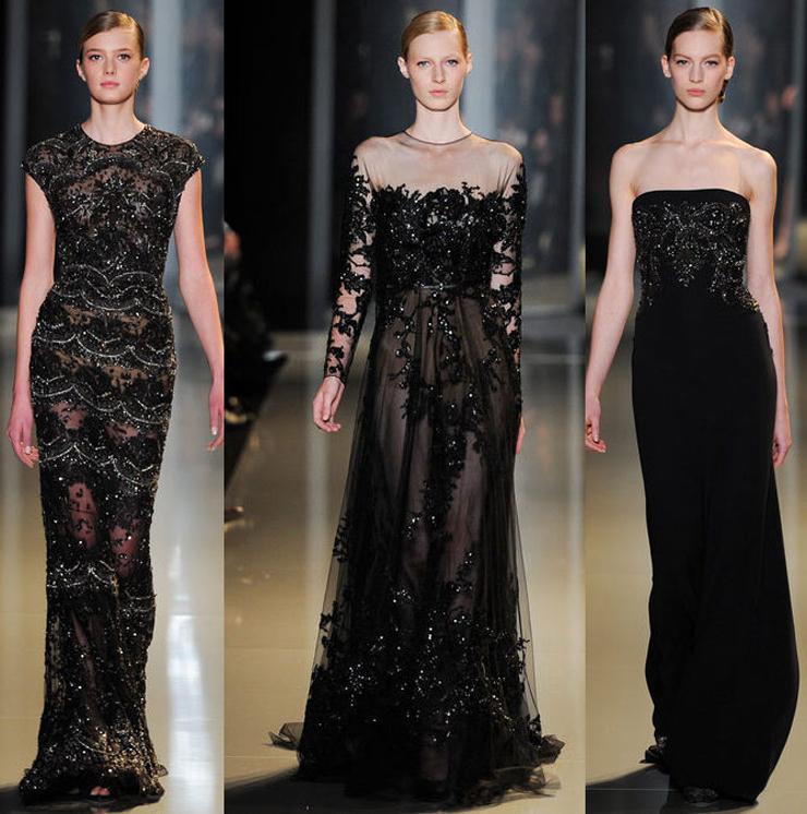 """""""El diseñador libanés ha presentado en París su colección Alta Costura para la próxima Primavera-Verano 2013 y como siempre, su muestra ha sido fascinante gracias a los espectaculares vestidos joya que sólo él sabe crear.""""  El desfile de Elie Saab en Paris 12"""