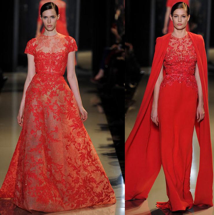 """""""El diseñador libanés ha presentado en París su colección Alta Costura para la próxima Primavera-Verano 2013 y como siempre, su muestra ha sido fascinante gracias a los espectaculares vestidos joya que sólo él sabe crear.""""  El desfile de Elie Saab en Paris 22"""