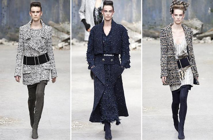 """""""Chanel quería impresionar y lo logró... como siempre. El Grand Palais de París fue la sede para mostrar prendas de organza, lentejuela y tul de seda con destellos en plata y cristal. Así es la mujer Chanel para el otoño-invierno 2013-2014.""""  Chanel celebra la Alta Costura 25"""