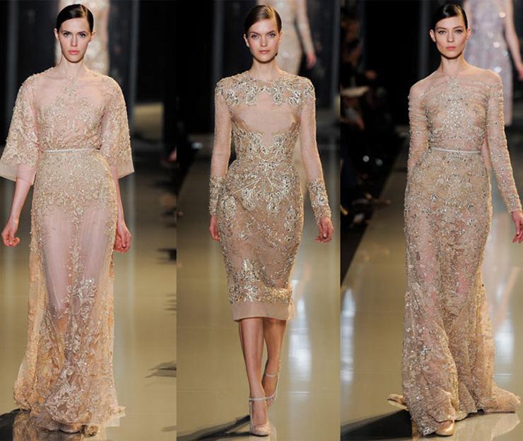 """""""El diseñador libanés ha presentado en París su colección Alta Costura para la próxima Primavera-Verano 2013 y como siempre, su muestra ha sido fascinante gracias a los espectaculares vestidos joya que sólo él sabe crear.""""  El desfile de Elie Saab en Paris 31"""