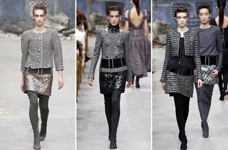 """""""Chanel quería impresionar y lo logró... como siempre. El Grand Palais de París fue la sede para mostrar prendas de organza, lentejuela y tul de seda con destellos en plata y cristal. Así es la mujer Chanel para el otoño-invierno 2013-2014.""""  Chanel celebra la Alta Costura 34"""