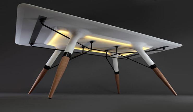 """""""La Mesa T es un diseño del estudio Dsignedby, que idearon el proyecto hace más o menos año y medio."""" Ideas para Decorar: Mesa T, elegancia con luz incorporada 222"""