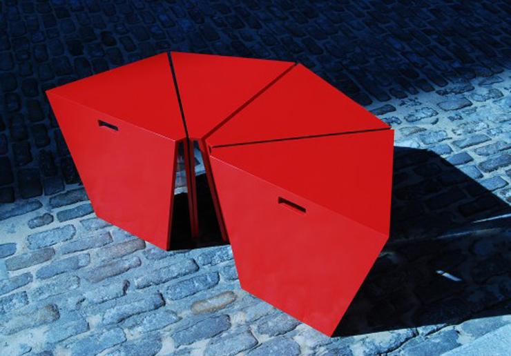 """""""Octavo, uno de los productos de IMAKE STUDIO, el área de diseño de la firma de arquitectura Nandinee Phookan Architecture.""""  Ideas para Decorar: Mesa Octavo de IMAKE Studio 223"""