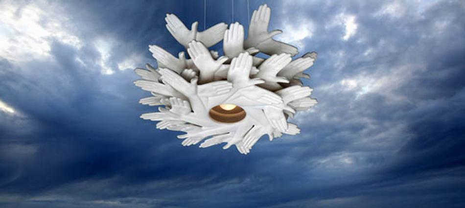 """Ideas para Decorar: Lámpara hecha con """"manos"""" Untitled 113"""