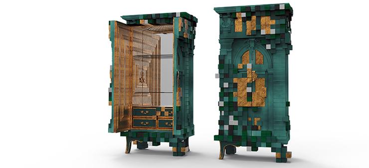 """""""El armario Piccadilly está inspirado en la arquitectura y las perspectivas de la famosa plaza Piccadilly Circus de Londres.""""  Ideas para Decorar: Armario Piccadilly, una tradición moderna 1"""