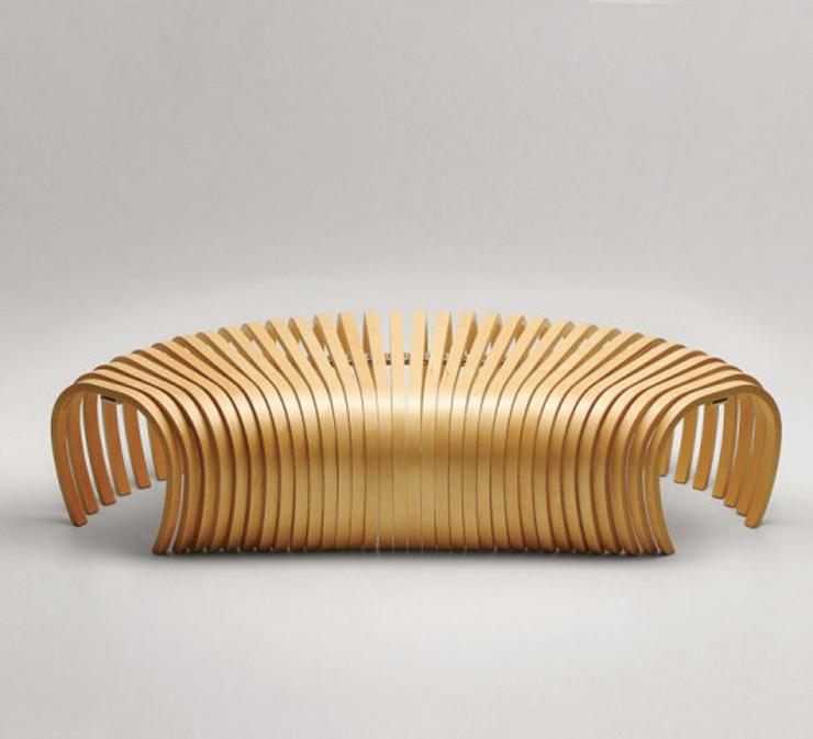"""""""La banca Ribs, creada por el diseñador australiano Stefan Lie del colectivo Design By Them.""""  Ideas para decorar: Banca Ribs de Stefan Lie – Design By Them 10"""