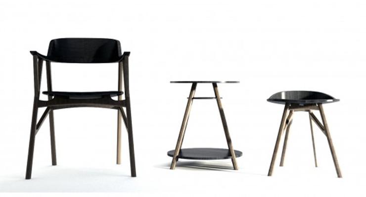 """Esta serie de silla, mesa y taburete, creada por el coreano Dongsung Jung, fue diseñada pensando un caballero Inglés, un gentleman."" Ideas para Decorar: Serie SINsa de Dongsung Jung 115"