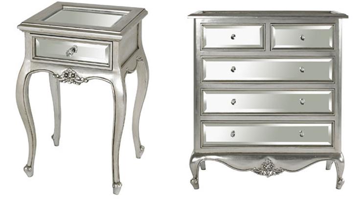 """""""Los muebles metalizados, de acero, pintados en colores metal, revestidos con pan de plata o incluso con superficies de espejo están cada vez más presentes.""""  Ideas para Decorar: Muebles metalizados para el dormitorio 12"""
