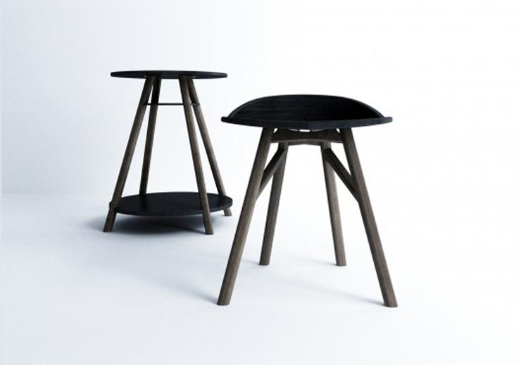 """Esta serie de silla, mesa y taburete, creada por el coreano Dongsung Jung, fue diseñada pensando un caballero Inglés, un gentleman."" Ideas para Decorar: Serie SINsa de Dongsung Jung 211"