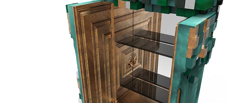 """""""El armario Piccadilly está inspirado en la arquitectura y las perspectivas de la famosa plaza Piccadilly Circus de Londres."""" Ideas para Decorar: Armario Piccadilly, una tradición moderna 3"""