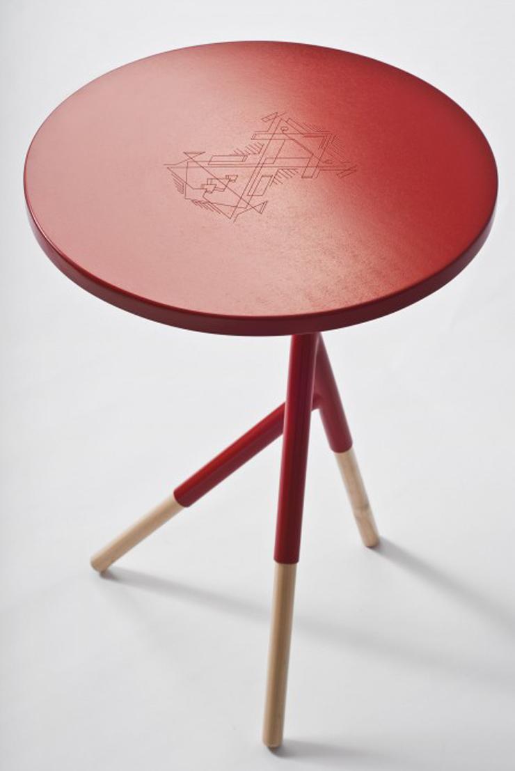 """Socorro, una mesa auxiliar creada por el equipo argentino Mestizo Disenio.""  Ideas para Decorar: Mesa Socorro de Mestizo Disenio 313"