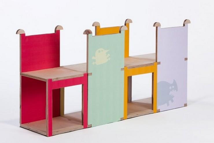 """""""Cherry es una silla modular de madera contrachapada, creada por la diseñadora industrial Yael Tandler.""""  Ideas para Decorar: Silla Cherry de Yael Tandler 113"""