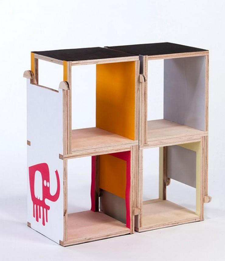 """""""Cherry es una silla modular de madera contrachapada, creada por la diseñadora industrial Yael Tandler.""""  Ideas para Decorar: Silla Cherry de Yael Tandler 212"""