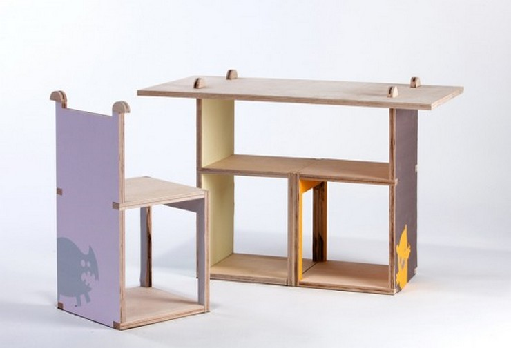 """""""Cherry es una silla modular de madera contrachapada, creada por la diseñadora industrial Yael Tandler."""""""