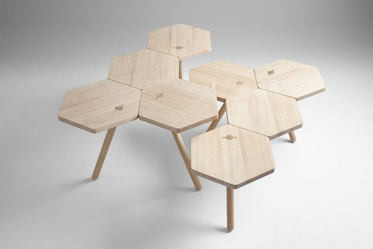 """""""Los diseñadores Flip Sellin y Markus Dilger de la firma Coordination, se inspiraron en la artesanía tradicional."""" Ideas para Decorar: Mesa Lean de Coordination 11"""