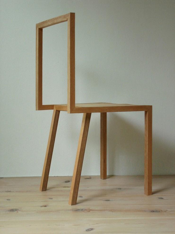 """""""La silla, creada por el estudio de arquitectura japonés Atelier Shinya Miura, es una pieza muy liviana.""""  Ideas para Decorar:Silla L de Atelier Shinya Miura 2"""