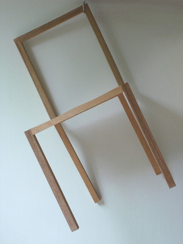 """""""La silla, creada por el estudio de arquitectura japonés Atelier Shinya Miura, es una pieza muy liviana.""""  Ideas para Decorar:Silla L de Atelier Shinya Miura 3"""